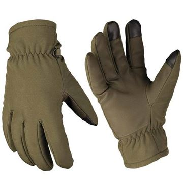 Picture of THINSULATE SOFTSHELL GLOVES OLIVES